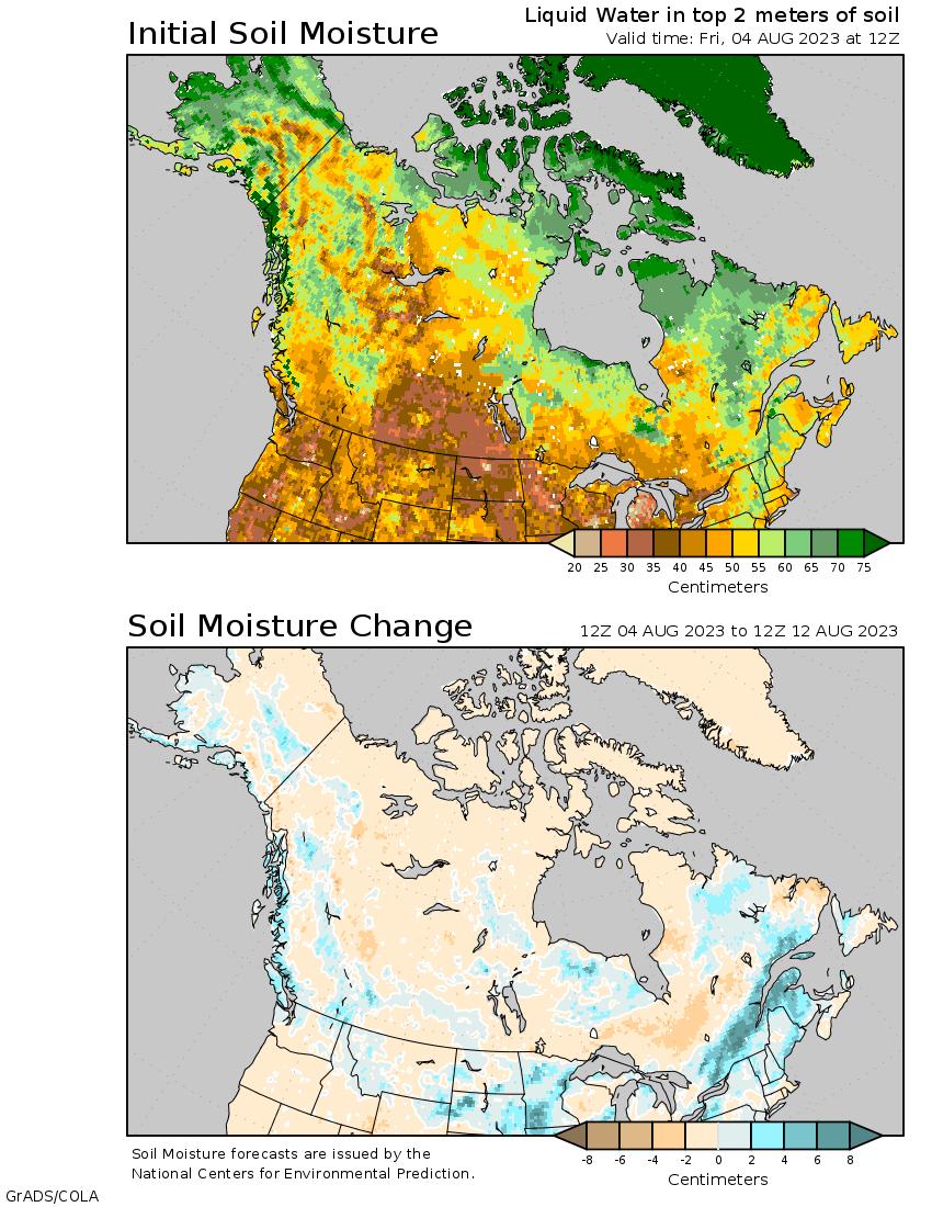 humidité au sol Canada & Alaska