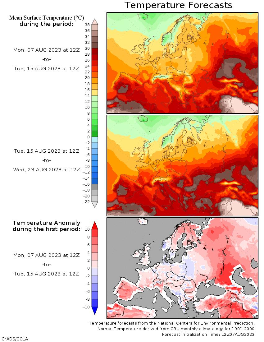 température Europe